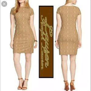 Ralph Lauren Snakeskin Ponte Sheath Dress Petite